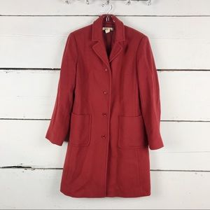 J.Crew wool cashmere blend coat pockets long